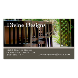 Indoor Design - Customized Double-Sided Standard Business Cards (Pack Of 100)