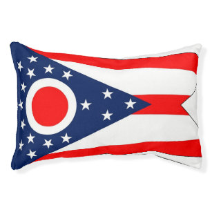 Indoor Dog Bed With Flag Of Ohio State Usa