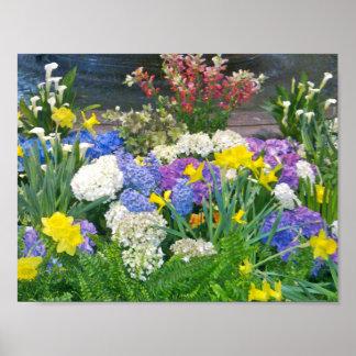 Indoor flower garden poster
