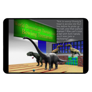 Indoor Games - Bowling - Dinosaur Bowling Tourney Magnet