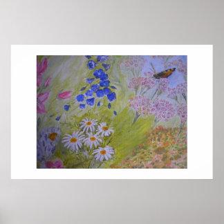 Indoor Garden painting Poster