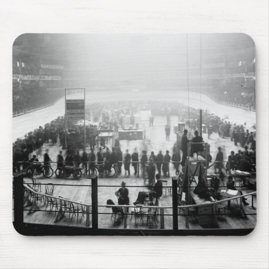 Indoor Motorcycle Race, early 1900s Mouse Pad