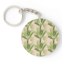Indoor Oasis | Palm Tree Pattern Keychain