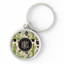 Indoor Oasis | Plant Lineup Pattern Keychain