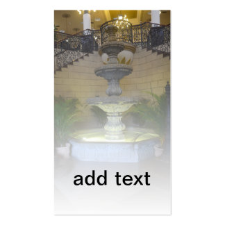 indoor ornate fountain Double-Sided standard business cards (Pack of 100)