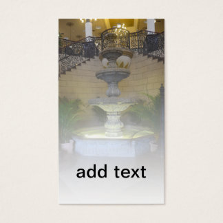 indoor ornate fountain business card