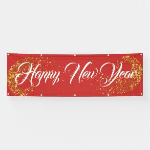 indoor outdoor custom banner happy new year banner