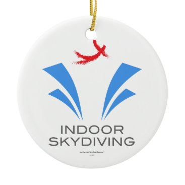 Christmas Themed Indoor Skydiving Ceramic Ornament