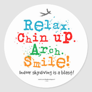 Indoor Skydiving is a Blast! Classic Round Sticker