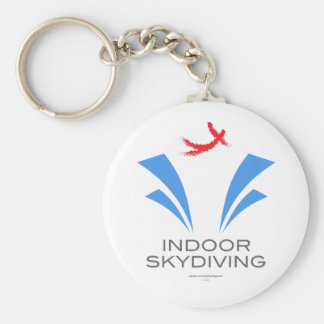Indoor Skydiving Basic Round Button Keychain