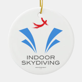 Indoor Skydiving Double-Sided Ceramic Round Christmas Ornament