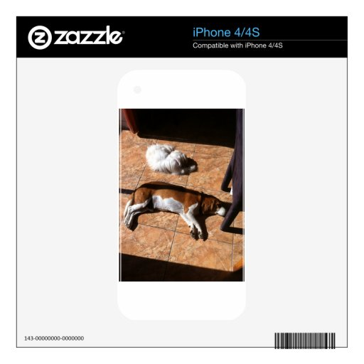 Indoor Tanning Doggy Style iPhone 4S Decal