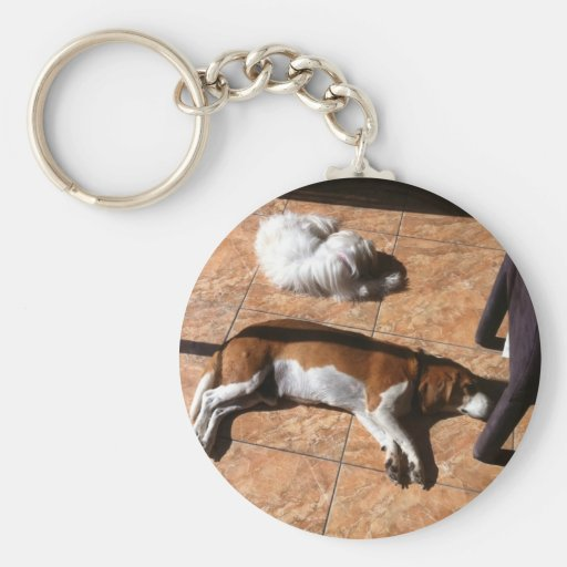 Indoor Tanning Doggy Style Keychain