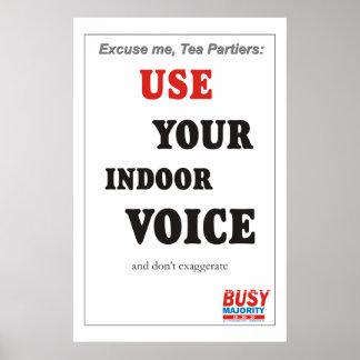Indoor voice Poster