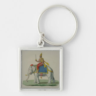 Indra, engraved by Marlet et Cie (colour litho) Key Chain
