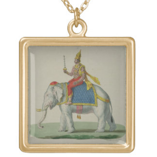 Indra, engraved by Marlet et Cie (colour litho) Square Pendant Necklace