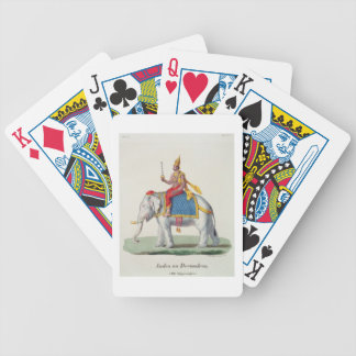 Indra or Devendra, from 'L'Inde francaise...', eng Bicycle Card Decks