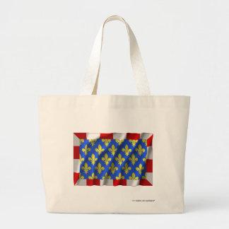 Indre-et-Loire waving flag Canvas Bags
