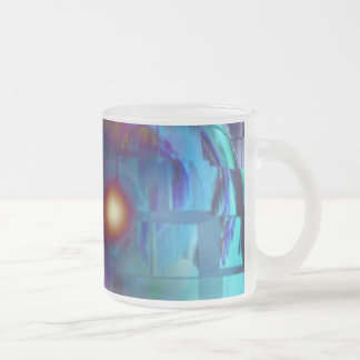indream2 10 oz frosted glass coffee mug