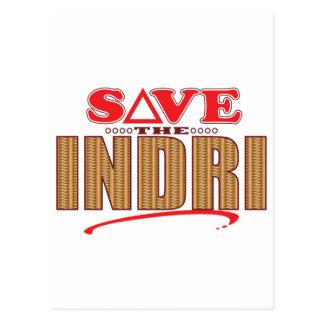 Indri Save Postcard