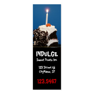 Indulge Bakery Business Card Bookmark
