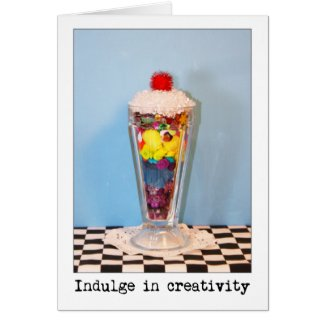 Indulge In Creativity Photography Greeting Cards