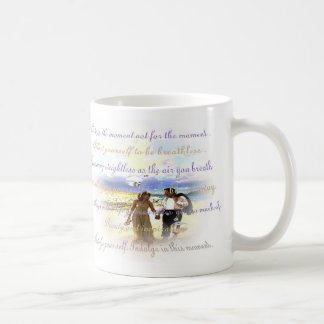 indulge classic white coffee mug