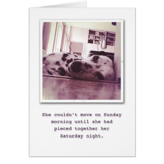 Indulge on your Birthday. Greeting Card