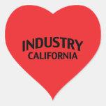 Industria California Pegatina Corazón