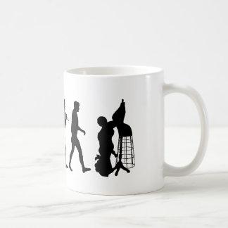 Industria de moda del comercio de trapo y camiseta tazas de café