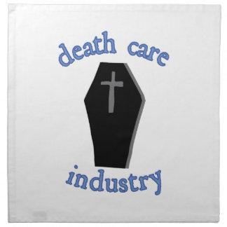 Industria del cuidado de la muerte servilletas