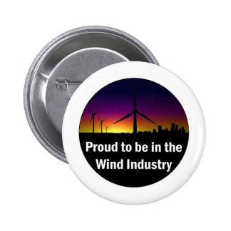 Industria del viento - botón pin redondo de 2 pulgadas