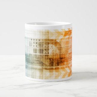 Industria farmacéutica con la investigación de la taza grande