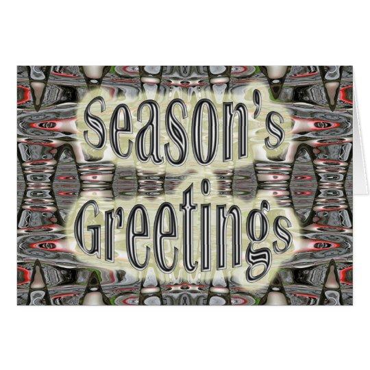 Industrial Abstract Black & Red Season's Greetings Card