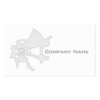 industrial abstract design white Double-Sided standard business cards (Pack of 100)
