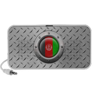 Industrial Afghan Flag with Steel Graphic iPod Speakers