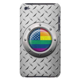 Industrial American Gay Pride Rainbow Graphic Case-Mate iPod Touch Case