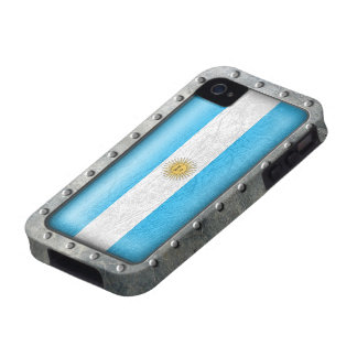 Industrial Argentine Flag Case-Mate iPhone 4 Cases