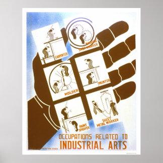 Industrial Arts Jobs 1936 WPA Poster