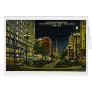Industrial Bank Building and Book Cadillac Hotel Greeting Card