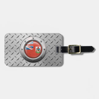 Industrial Bermuda Flag with Steel Graphic Luggage Tags