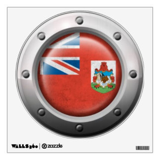 Industrial Bermuda Flag with Steel Graphic Wall Sticker