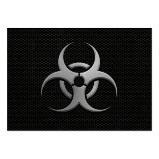 Industrial Bio Hazard Symbol with Steel Effect Large Business Card