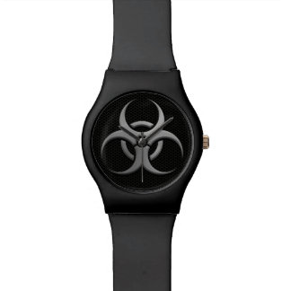 Industrial Bio Hazard Symbol with Steel Effect Watch