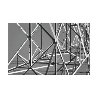 industrial black and white wrapped canvas stretched canvas print