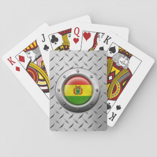Industrial Bolivian Flag with Steel Graphic Playing Cards