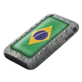 Industrial Brazilian Flag Tough iPhone 3 Case