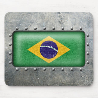 Industrial Brazilian Flag Mouse Pad