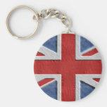 Industrial British Flag Key Chains