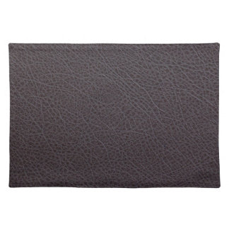 Industrial Brown Faux Leather Placemat